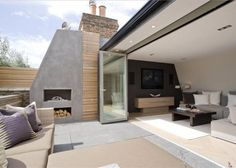 Fireplace on roof terrace                                                                                                                                                                                 More