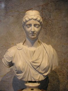 Ancient Roman bust of Faustina the Elder, in the Collection of Greek and Roman Antiquities in the Kunsthistorisches Museum, Vienna.