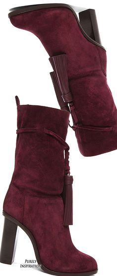 Lanvin Suede Tassel Boots | Purely Inspiration