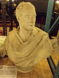 Bust of George, Earl of Winchelsea. Marble, 1836. Henry Weekes, Museum Collections Centre - 25 Dollman Street - warehouse