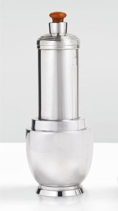 Meriden Silver Plate Company, Cocktail Shaker, ca. 1928. Silver plate and catalin. Courtesy Sotheby's