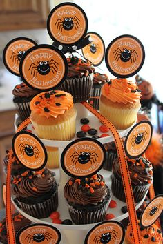 Halloween Cupcake Printable and Party Ideas#Repin By:Pinterest++ for iPad#