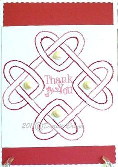 Celtic Knots Embroidery Pattern for Greeting Cards by Darse, $1.50