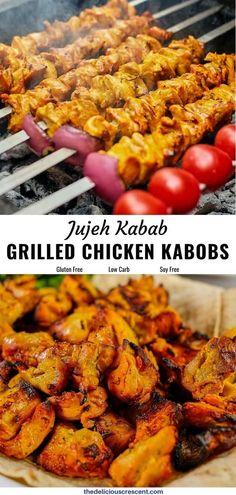 Grilled Chicken Kabobs, Chicken Kabob Recipes, Kebab Recipes, Chicken Skewers, Lamb Recipes, Grilling Recipes, Real Food Recipes, Healthy Recipes, Free Recipes
