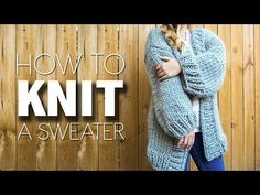 HOW TO KNIT A SWEATER | WE ARE KNITTERS | SIMONE CARDIGAN - YouTube