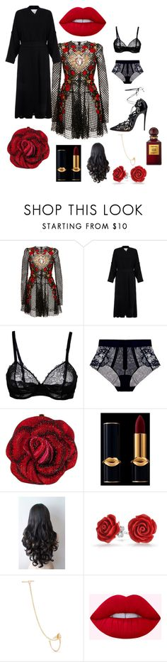 """""""A Kiss From A Rose"""" by jimaefaith on Polyvore featuring Dolce&Gabbana, Helmut Lang, La Perla, Christian Louboutin, Judith Leiber, Bling Jewelry, Loren Stewart and Tom Ford"""