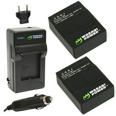 Wasabi Power Battery (2-Pack) and Charger for GoPro HERO3+, HERO3 and GoPro AHDBT-201, AHDBT-301, AHDBT-302 Wasabi Power