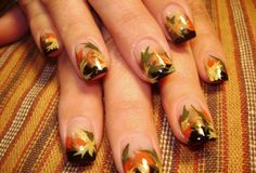 Autumn nails - I like these!