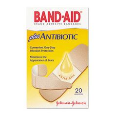 Industrial Products Supply - Bandages - Band-Aid plus Antibiotic Bandages - JOJ5570, $5.45 (http://stores.ips-sales.com/bandages-band-aid-plus-antibiotic-bandages-joj5570/)