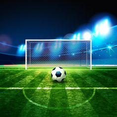Soccer ball on goalie goal background. Night background football field stadium and fans 2018 soccer championship. Nike Soccer Bag, Adidas Indoor Soccer Shoes, Girls Soccer Cleats, Soccer Referee, Soccer Aid, Head Soccer, Sports Head, Fifa, Professional Soccer