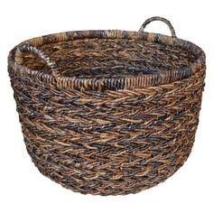 Round woven storage basket. At Target. Need for living room blankets
