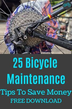 25 Money Saving Bike Maintenance Tips Mountain Biking, Mountain Bike Parts, Recycled Bike Parts, Montain Bike, Bike Tools, Commuter Bike, Bicycle Maintenance, Cycling Tips, Fat Bike