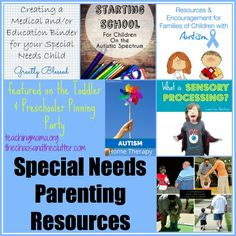 Teaching Mama: Special Needs Parenting Resources. Pinned by SOS Inc. Resources. Follow all our boards at pinterest.com/sostherapy/ for therapy resources.