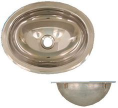 S/S SINK MIRROR FINISH OVAL 13