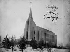 LDS Temple Block – I'm Going There Someday