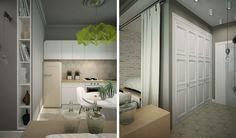 Apartment minimalist design concept with modern decor 2