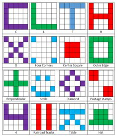 use these great bingo patterns instead of the traditional 5 in a row simones math resources