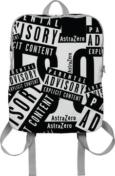 Explicit Content BACKPACK ------------------------ club kid, fashion, street style, edgy, nap sack, punk goth emo rave heavy metal guys girls bad kids alternative grunge freak back to school