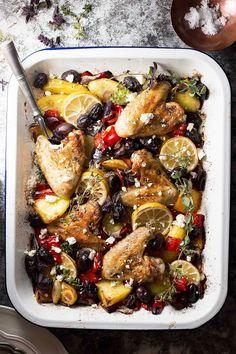 Greek-Style Easy Baked Chicken Dinner