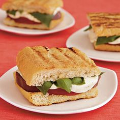 Caprese Sandwiches | MyRecipes.com
