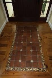 Entryway Flooring, Brick Flooring, Diy Flooring, Hardwood Floor, Floor Design, Tile Design, Painted Floors, Home Remodeling, Tile Floor