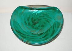 SPLENDID Authentic MURANO Glass BOWL Modern INCREDIBLY Dazzling SPOTS Rare HUES