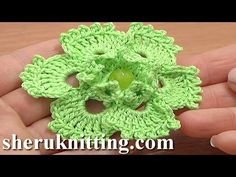 Picot Popcorn Stitch Flower Crochet Tutorial 70 Flower Patterns, My Crafts and DIY Projects