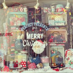 Retro Christmas display