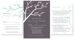 I like that the different pieces of the invitation have the same colours and design, but different background colours on each piece. The Green Kangaroo Wedding Invitations Photos on WeddingWire