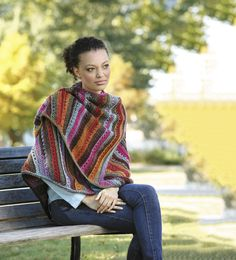 Make this beautiful triangle shawl with our featured yarn: Lion Brand Landscapes! Save 20% on this yarn for a limited time! Get the free crochet pattern and make it with 6 balls of yarn (pictured in desert spring) and a size K-10.5 (6.5mm) crochet hook.