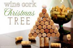 Wine cork Christmas tree tutorial - Ask Anna