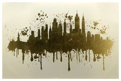 Home Accents NYC Skyline Canvas Art, Multi - Tattoo Oberschenkel Frau Metal American Flag, American Flag Wall Art, Nyc Skyline Tattoo, Skyline Art, New York City Skyline, Miami Skyline, Skyline Homes, Skyline Painting, Art Carved
