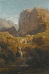 GEORG BUSSE VIEW OF CONSTANTINE, ALGERIA, FROM THE NORTH SIDE Estimate 3,000 — 5,000 GBP
