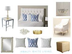 Create a Hamptons style bedroom in soothing shades with these ideas from Amalfi White Living