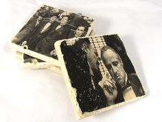 The Godfather Movie Coaster Set of Four by SouthernCultureGifts, $22.00