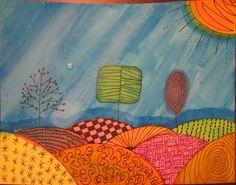 Angela Anderson Art Blog: Zentangle Pen & Ink Watercolor Paintings