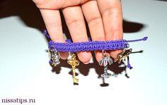 Мастер класс по созданию браслета макраме с чармиками   Nissa's tips