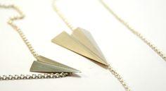 Halskæde med papirflyver
