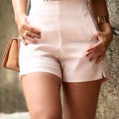 Short Murau Rose Cintura Alta REF M1914 ~ Aretusa Santana ~ Moda Feminina