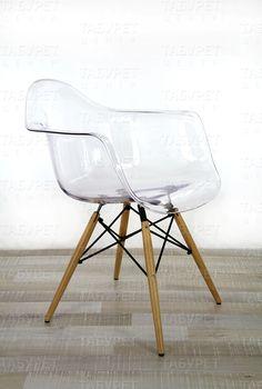 Стул DAW прозрачный, Eames Style