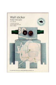 #Robot #muursticker #wallsticker | Studio ditte