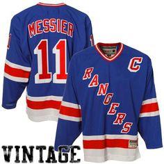 4df54a22c Reebok Mark Messier New York Rangers Heroes Of Hockey Throwback Jersey-Royal  Blue Rangers Gear