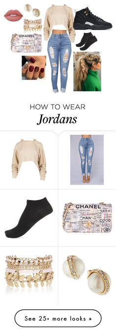"""""""Another Day, Another Boss"""" by jaemac1022 on Polyvore featuring NIKE, River Island, Kate Spade, Wolford, Chanel and Lime Crime"""
