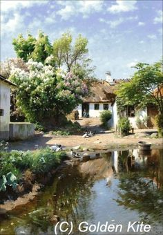 Spring Day at a Thatched House