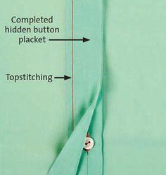 How to Make a Hidden Button Placket - Threads