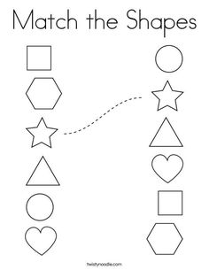 Free printable shapes worksheets for toddlers and preschoolers. Preschool shapes activities such as find and color, tracing shapes and shapes coloring pages. Shape Worksheets For Preschool, Shapes Worksheets, Preschool Writing, Numbers Preschool, Kindergarten Math Worksheets, Preschool Learning Activities, Preschool Coloring Pages, 3 Year Old Worksheets, Preschool Forms