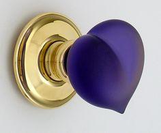 Amethyst purple love heart, signature piece by Liam Carey, Merlin Glass