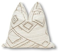 Fragments for Neiman Marcus Identity By Tammy Price Habitas Pillow - Natural/Tan Elephant Logo, Chenille Fabric, Natural Tan, Designer Pillow, Hand Spinning, Sofa Pillows, One Kings Lane, Decorative Throw Pillows, Identity