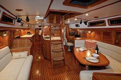 Passport 470 Center Cockpit boats for sale Sailboat Living, Living On A Boat, Sailboat Interior, Yacht Interior, Sailboat Yacht, Yacht Boat, Yacht Design, Boat Design, Sailboat Restoration