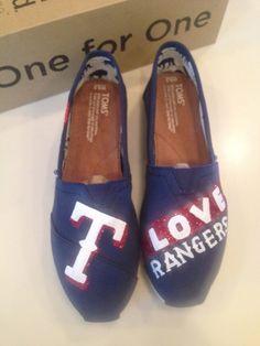 Texas Rangers TOMS by ZebraStudios on Etsy, $95.00
